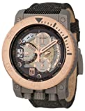 Jason Taylor for Invicta Collection 13049  Chronograph Black and Silver Tone Perforated Dial Black Fabric Watch, Watch Central