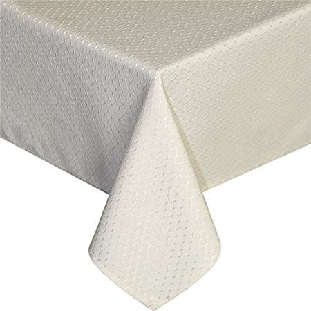 Eurcross Modern Waffle Beige Tablecloth Wipe Clean Stain Resistant