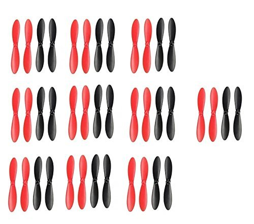 10 x Quantity of Micro Drone Quad Rotor Propeller Blades Props Rotor Set Main Blades Black and Red - FAST FROM Orlando, Florida USA! by HobbyFlip by HobbyFlip