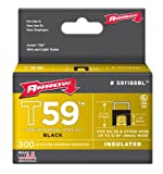 Arrow Fastener 591188BLSS Genuine T59 Stainless Black 1/4-Inch by 5/16-Inch Staples, 300-Pack