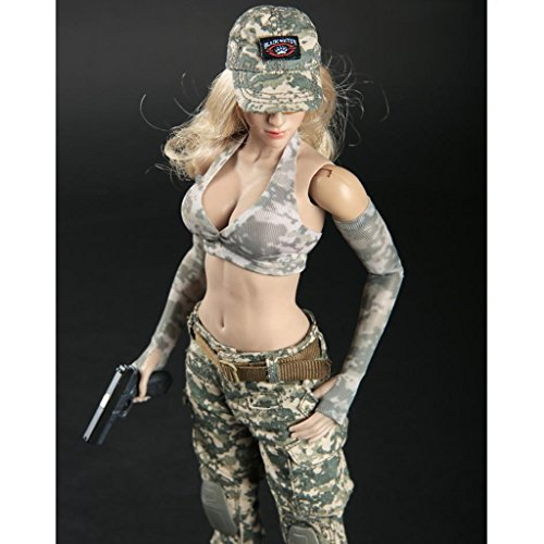 Homyl 1:6th Camouflage Combat Clothes Suit Full Set for 12 inch Action Figure Accessories (12' Full Action Figure)