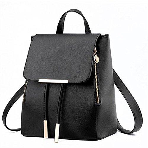 Vincico - Bolso mochila  de Material Sintético para mujer negro negro blanco