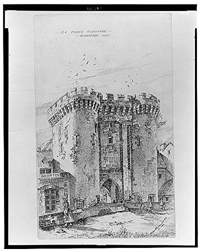 Photo: La Porte Guillaume,Chartres,1880,Cass Gilbert,Architecture,City Gate,France -
