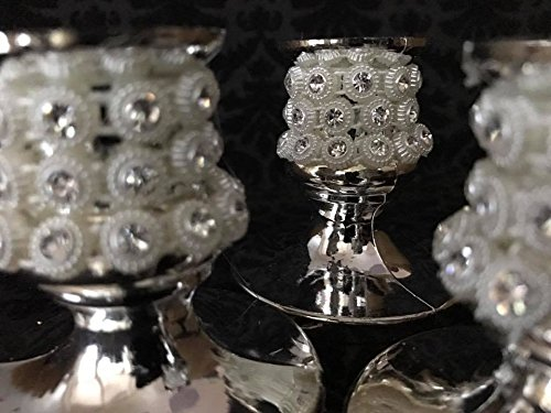 16 Candle Holder with Pearls Favor Decoration for Sweet 16 Wedding All Occasions