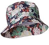 Emmalise Women's Fashion Elegant Ladies Fisherman Bucket Hat Cap (Floral Printed)