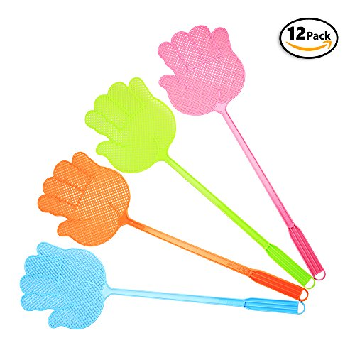 12 Kid Fly Swatters Whacks Mosquitoes, Bugs. – Includes e...