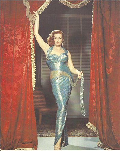 Jane Russell in sexy blue gown 8x10 inch Movie Photo 002