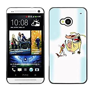 Caucho caso de Shell duro de la cubierta de accesorios de protección BY RAYDREAMMM - HTC One M7 - Cartoon Characters Chicken Cow Animals Art