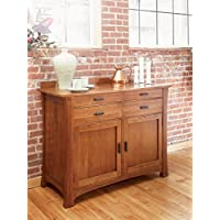 A-America Cattail Bungalow Sideboard in Warm Amber
