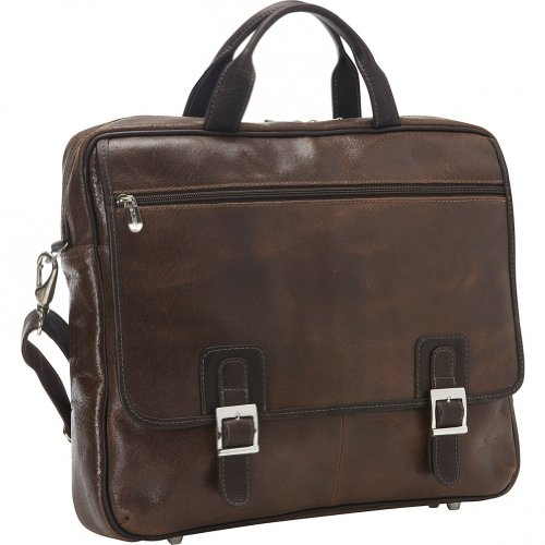 Piel Leather Vintage Business Case, Vintage Brown, One Size by Piel Leather