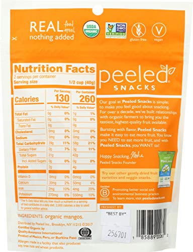 Peeled Snacks Organic Dried Fruit, Original Mango, 4 Count by Peeled Snacks (Image #1)