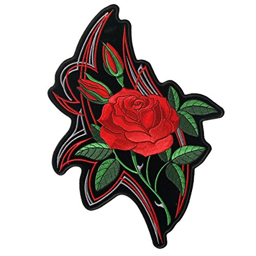 Hot Leathers Mirror Roses Patch (Multicolor, 4