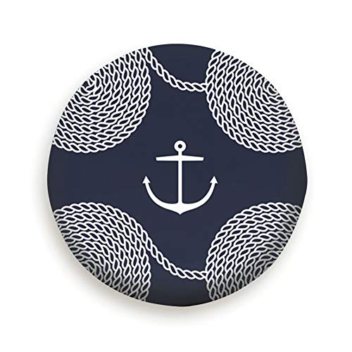 Rope Spirals Anchors Yacht Anchor Holidays Tire Cover Camping Potable Polyester Universal Spare Wheel Covers for Trailer RV SUV Truck Camper Travel Trailer Accessories(14,15,16,17 Inch) 17inch