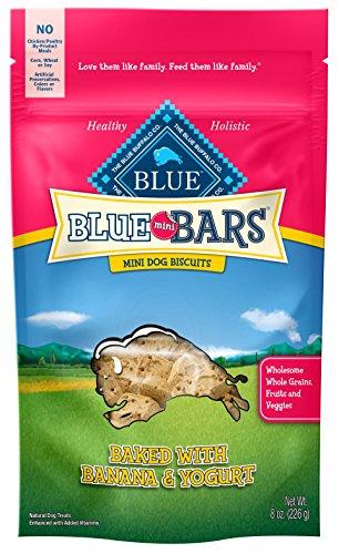 - Blue Mini Bars Banana & Yogurt Dog Biscuits, 8 Oz (6 Pack)