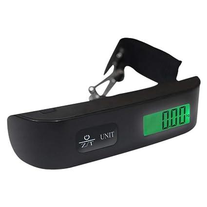 Escala del Equipaje Pesa Maletas Báscula Digital Portátil Bascula Pantalla LED 110 lb/50 kg