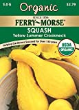Ferry-Morse Organic Squash, Early Yellow Summer Crookneck Seeds
