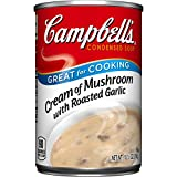 Campbell's Condensed Soup, Cream of Mushroom with Roasted Garlic, 10.5 Ounce (Pack of 12)