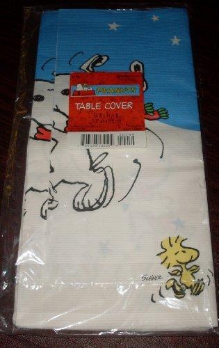Peanutsスヌーピー&ウッドストッククリスマステーブルカバー、テーブルクロス   B00AGFA3G0