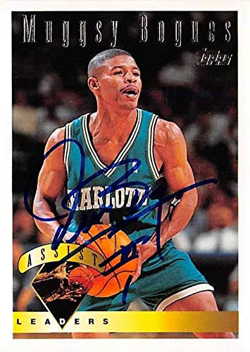 e268fd99c Amazon.com  Muggsy Bogues autographed basketball card (Charolte Hornets)  1995 Topps Assists Leaders  20 - Unsigned Basketball Cards  Sports  Collectibles