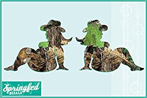 "Camo Fat Country Mud Flap Girl Vinyl Decal 6"" Car Truck Window Mudflap Girls Sticker"