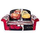 Marshmallow Furniture Children's Upholstered 2 in 1 Flip Open Sofa, Disney Pixar Cars 3, by Spin Master