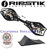 Razor Ripstik Limited Edition BATTLE Caster Board Skate Board w/ Punk Ramp & Extra Set of Gray Wheels