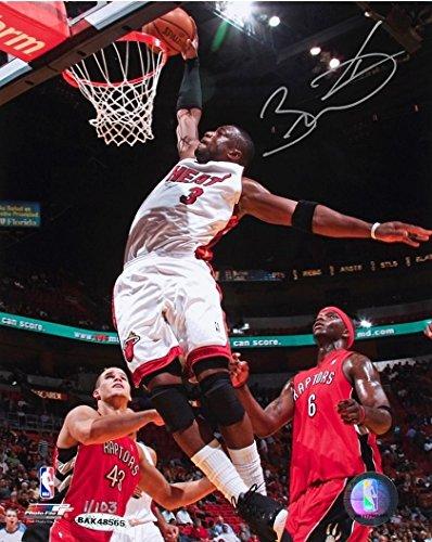 (Dwyane Wade Hand Signed Autographed Flash Dunk 8x10 Photo Miami Heat UDA /103)