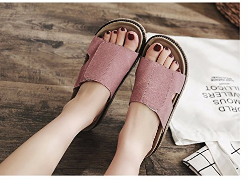 Slippers and XZ Pink muffins tide summer LIUXINDA cool Summer slippers shoes seaside fashion summer women's beach 8H4dtn