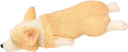 2x Miniatur Corgi Hund Terrarien Feen Moos Garten Hof Dekor Ornament