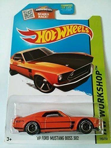 Hot Wheels, 2015 HW Workshop, '69 Ford Mustang Boss 302 [Orange] - Works Hot Racing