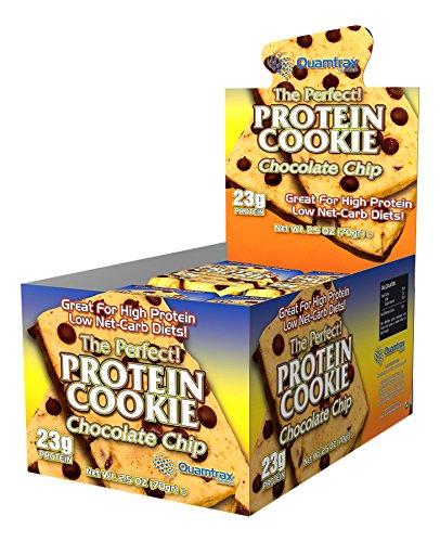 Quamtrax Nutrition Caja Protein Cookie, Sabor a Chocolate - 24 Barritas: Amazon.es: Salud y cuidado personal