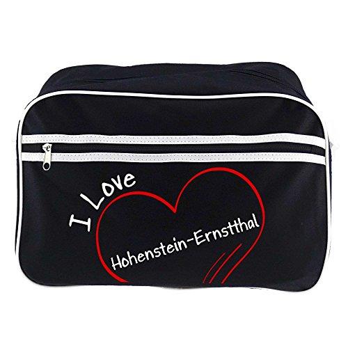 Retrotasche Modern I Love Hohenstein-Ernstthal schwarz