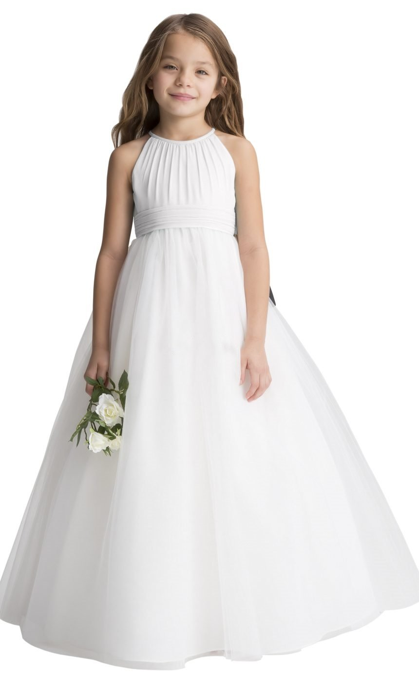 Chiffon Tulle Flower Girl Dress Junior Bridesmaid Dresses for Wedding Party Aline by fairy Girl (Image #1)