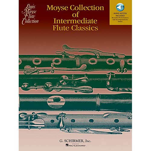 - Moyse Collection of Intermediate Flute Classics Woodwind Solo Series Softcover Audio Online- Pack of 2