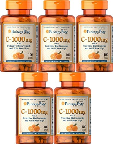 5 VITAMINA C 1000 MGR 100 CAPS. (defensas y antioxidante) VITAMIN C,