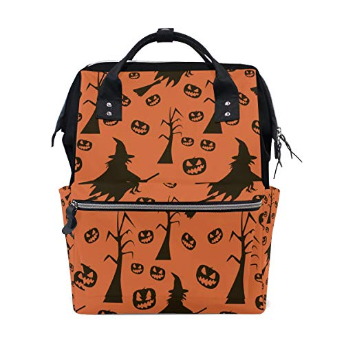 Halloween Holiday Design Large Capacity Diaper Bags Mummy Backpack Multi Functions Nappy Nursing Bag Tote Handbag for Children Baby Care Travel Daily Women ()