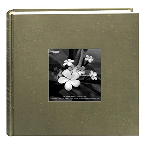 Pioneer Photo Albums 200 Pocket Caramel Silk Fabric Frame Cover Photo Album for 4 by 6-Inch Prints (Frame Picture Fabric Covered)