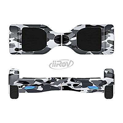 Design Skinz The Traditional Black & White Camo Full-Body Wrap Skin Kit for The iiRov HoverBoards and Other Scooter (Hoverboard NOT Included) : Sports & Outdoors