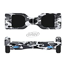 The Traditional Black & White Camo Full-Body Wrap Skin Kit for the iiRov HoverBoards and other Scooter (HOVERBOARD NOT INCLUDED)