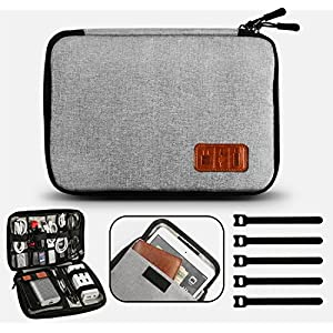 GiBot Cable Organiser Bag, Travel Electronics Accessories Bag Organiser for Cables, Flash disk, USB drive, Charger…
