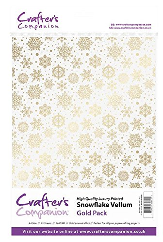 (Crafter's Companion Scrapbooking Craft Snowflake Vellum - Gold (160gsm))