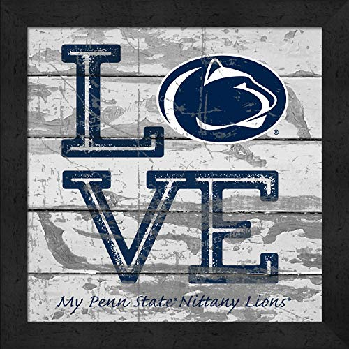 Penn State Logo Square - Prints Charming College Love My Team Logo Square Penn State Nittany Lions Framed Posters 13x13 Inches