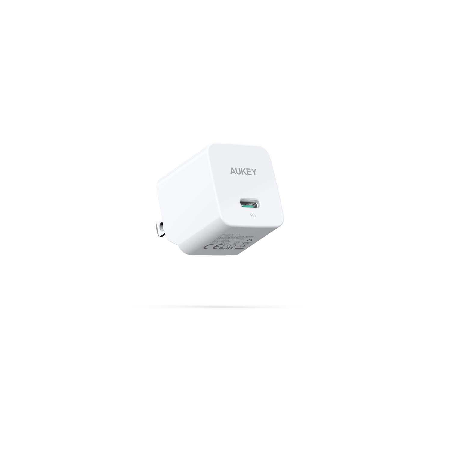 AUKEY USB C Power Delivery Charger with 27W PD & GaNFast Tech, Ultra-Compact USB C Wall Charger, Compatible iPhone Xs/Xs Max/XR, Samsung Galaxy S8/Note8, Nintendo Switch, MacBook Air, and More
