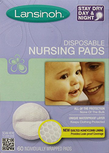 Lansinoh Stay Dry Nursing Pads Medium 60 Pads (Nursing Pads Set)