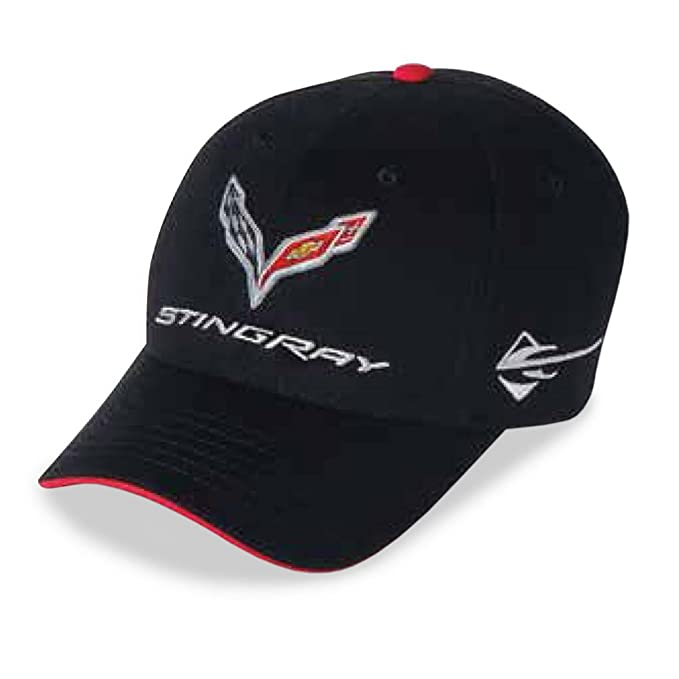 7cacede814d9f C7 Corvette Stingray Car Color Matching Hat Cap - Embroidered (Black)