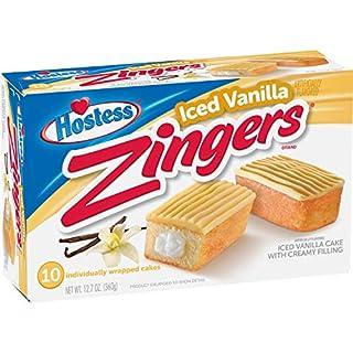 Hostess Iced Vanilla Zingers, 10 Count