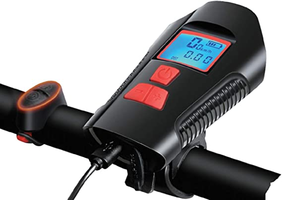 PiAEK - Lámpara LED para bicicleta (impermeable, USB, recargable ...