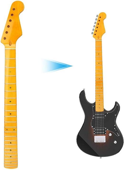 Mástil de Guitarra eléctrica, Amarillo Oscuro 22 trastes ...