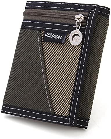 OURBAG Men Wallets Casual Canvas Wallet Vertical Male Purse Wallets