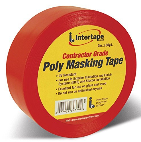 Intertape Polymer Group 4379 RED Red Contractor Grade Poly Masking Tape by Intertape Polymer Group (Image #1)